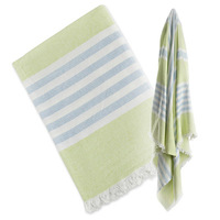 Badetuch Lulujo Baby (lime green & blue)